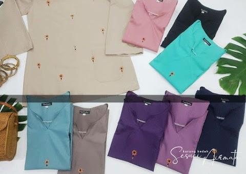 Baju Sedondon Ibu dan Anak Raya 2020 ~ Kurung Kedah Sesuci Airmata