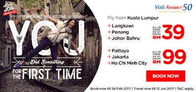AirAsia ASEAN Cheap Fares Flight Ticket Discount Promo