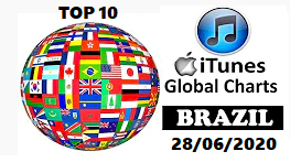 🎵 ITUNES TOP 10 BRASIL 28/06/2020 - Canal Celso Branicio no Youtube - Blog Celso Branicio