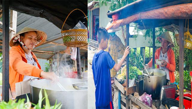 Đặc sản Búng Bình Thiên - Bún cá hột vịt lộn