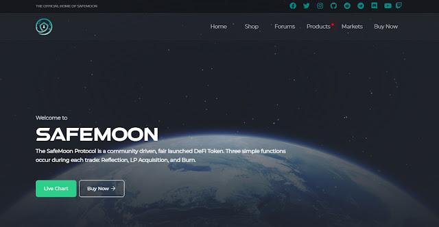Halaman Website SafeMoon (SAFEMOON) Cryptocurrency