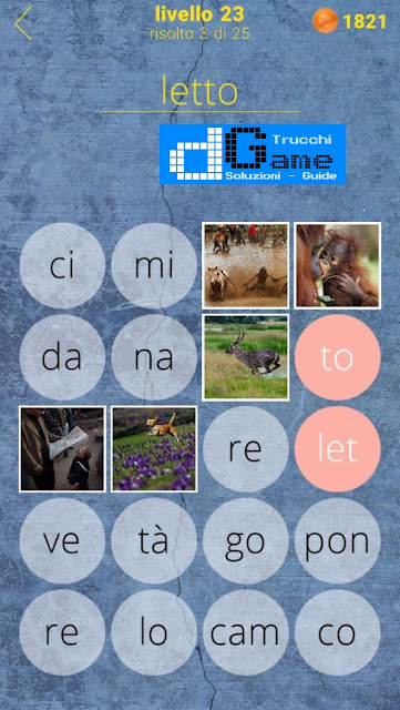 650 Parole soluzione livello 23 (1 - 25) | Parola e foto