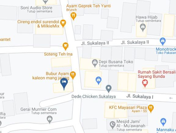 Map Letak Hotel City Tasikmalaya