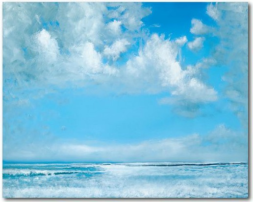 Blue Sky and Ocean Canvas Art