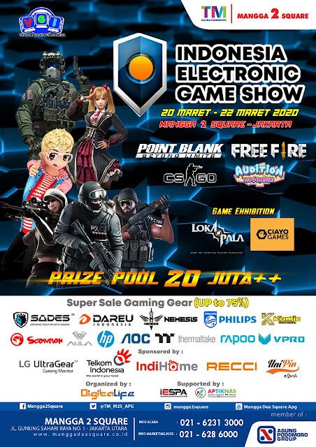 Kegiatan Pameran Gaming Indonesia Electronic Game Show 20-22 Maret 2020