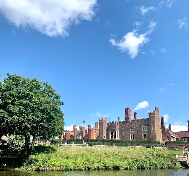 Hampton Court view from the river Thames
