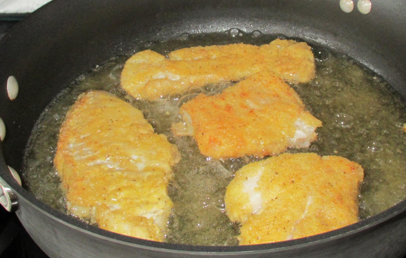 Successfully gluten free pan fried lightly breaded cod for Frying fish recipes