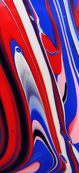 Abstract red and blue painting wallpaper