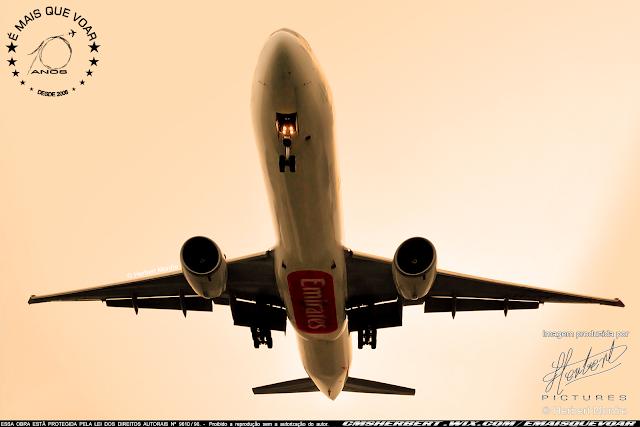 Emirates SkyCargo retoma voos regulares para São Paulo | Foto © Herbert Monfre - Fotógrafo de Aviões - Imagem Produzida por Herbert Pictures | É MAIS QUE VOAR