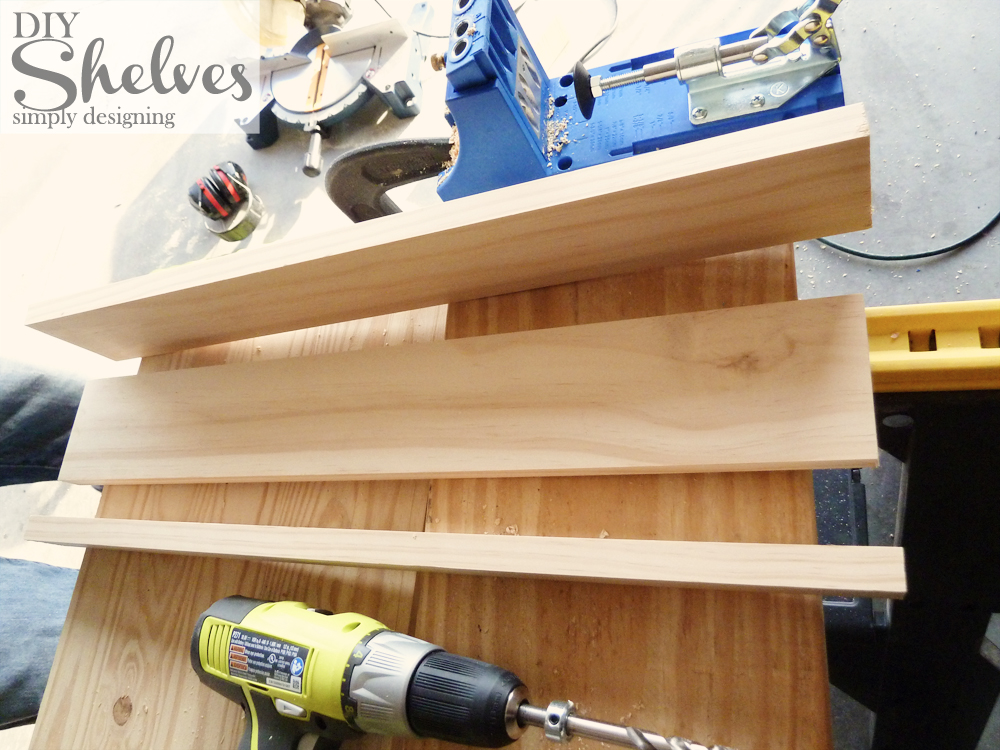 DIY Shelves | how to make knock-off shelves with a Kreg Jig | #diy #shelves #knockoff