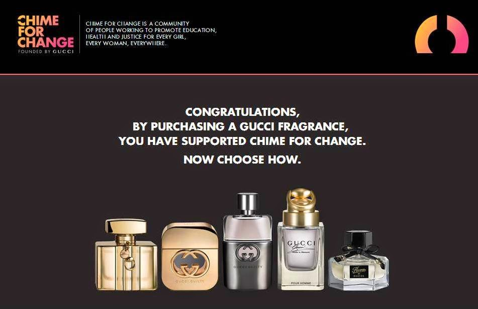 Gucci Chime for Change 2014, Gucci Fragrance, Gucci Parfums, Gucci Premiere, Flora by Gucci, Gucci Guilty pour Femme, Gucci Guilty pour Homme, Gucci Made to Measure,