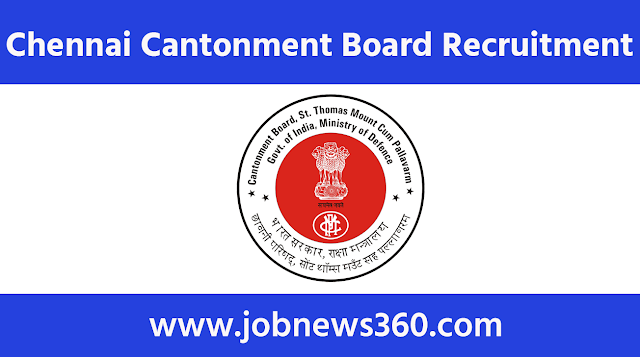 Chennai Cantonment Board Recruitment 2020 for Midwife