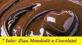7 Iulie: Ziua Mondială a Ciocolatei