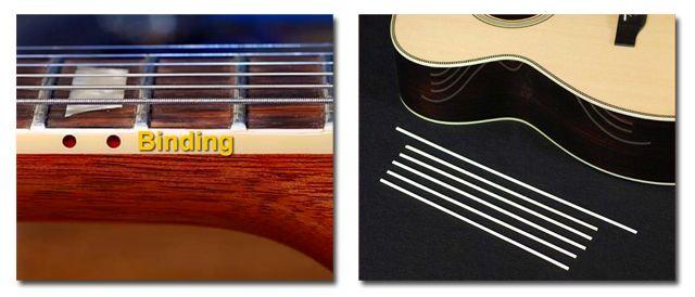 Que es el Binding de la Guitarra