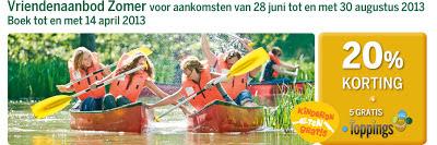 www.centerparcs.nl/vriendenaanbod Vriendenaanbod Zomer