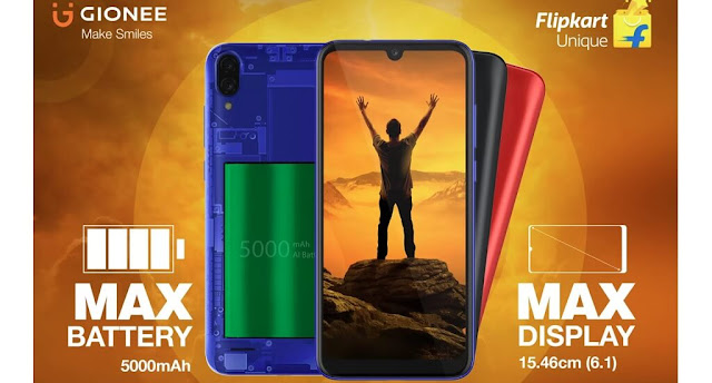 Gionee Max Launched With 6.1inch HD+ Display, 13MP Dual Rear Camera, 5000mAh Battery & More