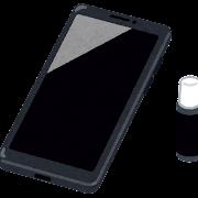 スマートフォンのガラスコーティングのイラスト