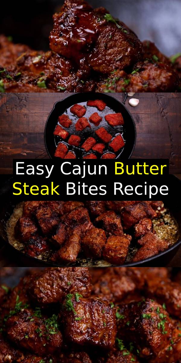 Tender and juicy pan seared Cajun Butter Steak Bites are full flavoured with crispy edges. Ready in under 10 minutes without any marinating needed, these Cajun Butter Steak Bites are a quick and easy family dinner recipe. #steak #steakbites #dinner #beef #dinnerrecipe