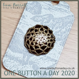 One Button a Day 2020 by Gina Barrett - Day 145 : Eliot