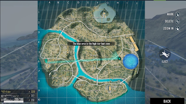 Lokasi Peta Harta Karun Hari ke 19 Map Purgatory Free Fire