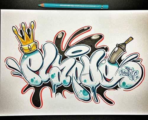 ++ gambar tulisan graffiti di kertas   The Expert