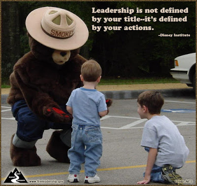 Leadership is not defined by your title--it's defined by your actions. - Disney Institute  [Photo credit: NPS]