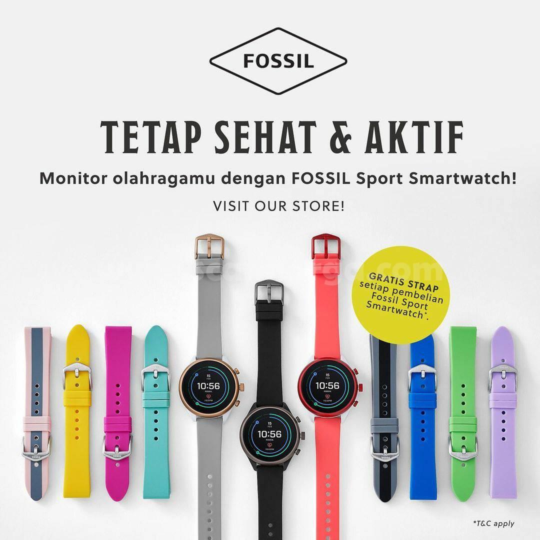 Fossil Promo GRATIS Strap Setiap Pembelian Fossil Sport Smartwatch