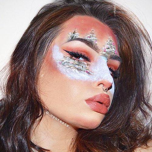 Maquillar un paisaje en el rostro