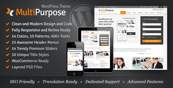 MultiPurpose v1.5.18 - Responsive WordPress Theme