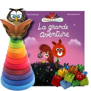 La grande aventure  Astrid Desbordes Marc Boutavant Nathan 2017 Edmond amis critique avis chronique assistante maternelle