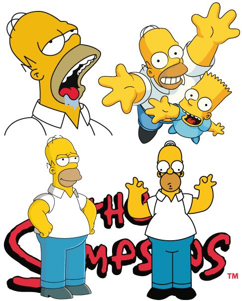 4 Poses de Homer Simpson