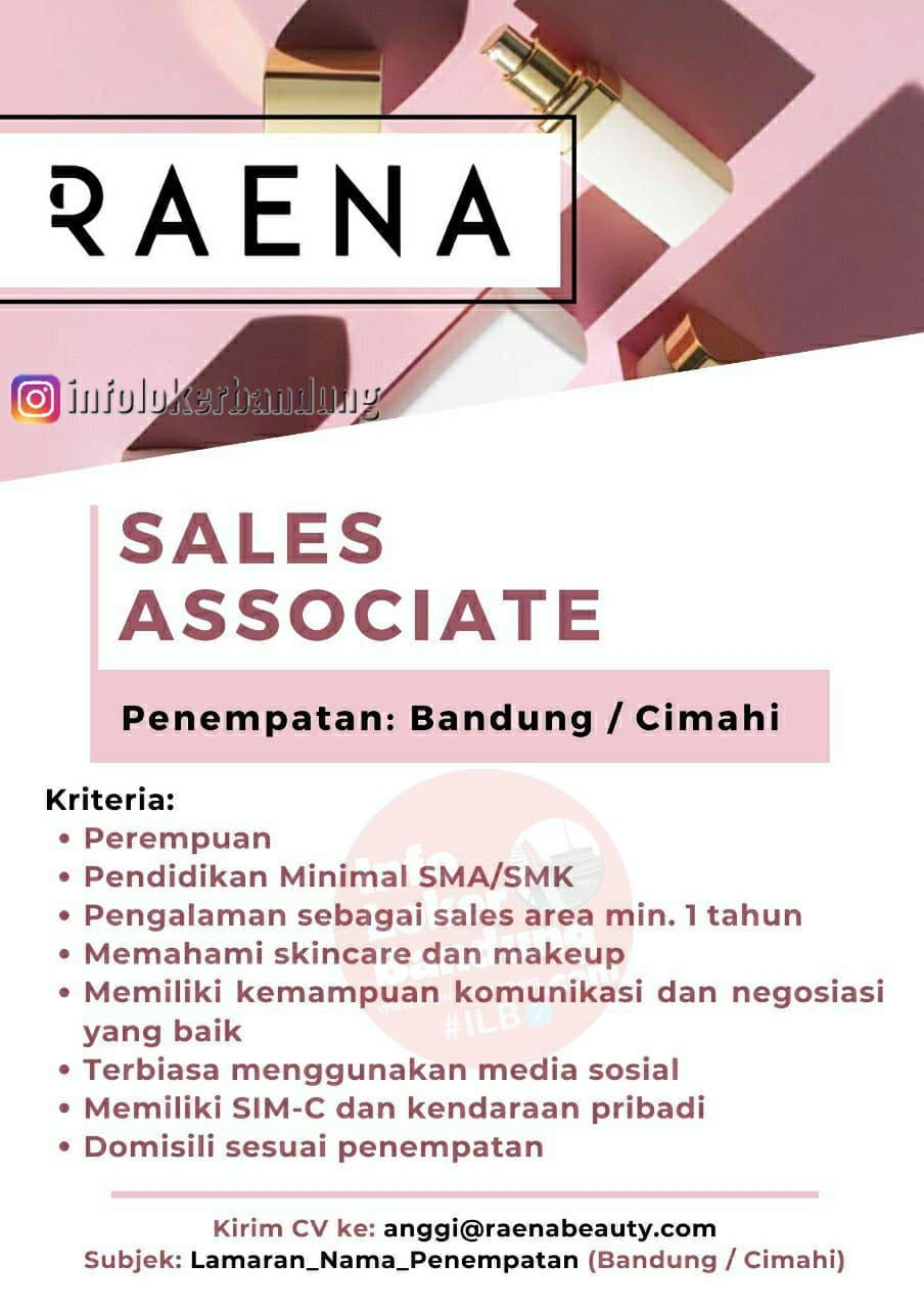 Lowongan Kerja Raena Bandung April 2021
