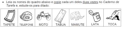 Projeto TODO DIA TEM DITADO - Ortografia palavras com TA - TE - TI - TO - TU
