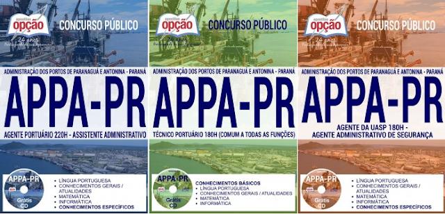 Apostila concurso APPA - PR (Portos de Paranaguá) 2017