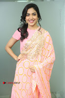 Actress Ritu Varma Pos in Beautiful Pink Anarkali Dress at at Keshava Movie Interview .COM 0022.JPG