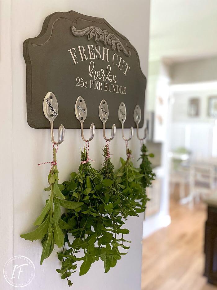 Herb Rack Kitchen Decor