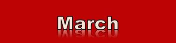 March 2021 Calendar Banner