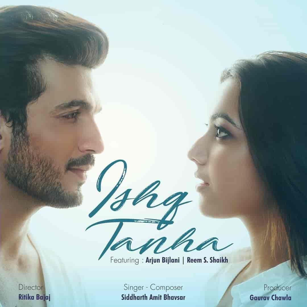 Ishq Tanha Hindi Sad Song Image Features Arjun Bijlani and Reem S. Shaikh