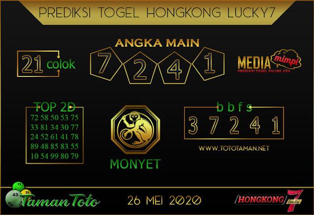 Prediksi Togel HONGKONG LUCKY 7 TAMAN TOTO 26 MEI 2020