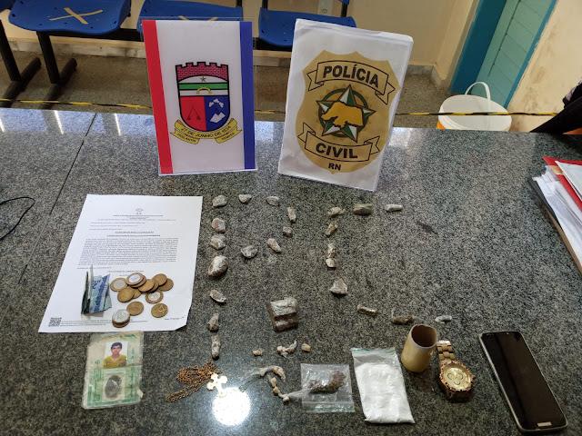 Polícia Civil prende suspeito por tráfico de drogas no interior do RN