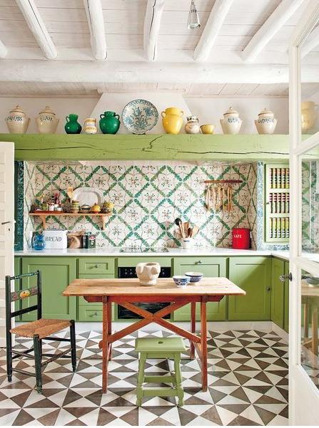 2441 decoraci n de cocina vintage labores en red - Decoracion vintage cocina ...