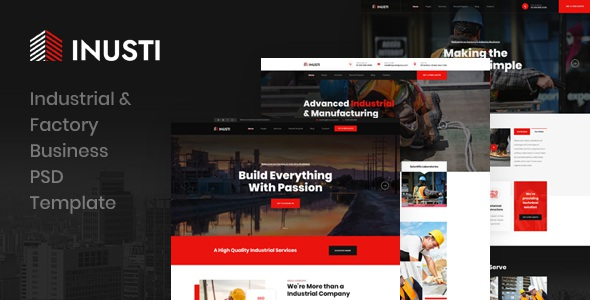 Industrial & Factory Business PSD Template