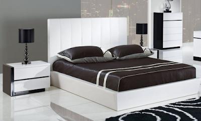 tempat tidur minimalis putih
