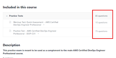 Best Practice test to pass the AWS Certified DevOps Engineer Professiona Certification