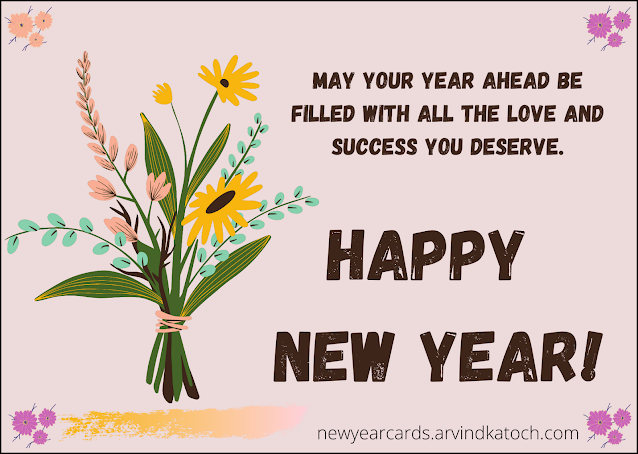 New Year, Card, Happy New Year,