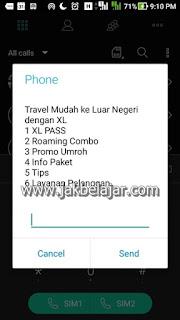Tampilan Paket XL Pass melalui *123*7474#
