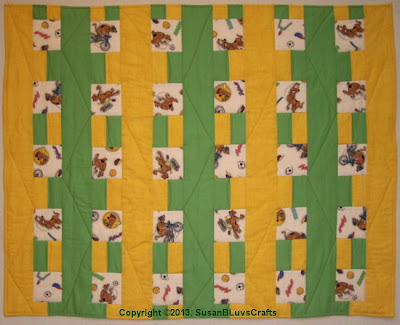 quilt with Scooby Doo fabric
