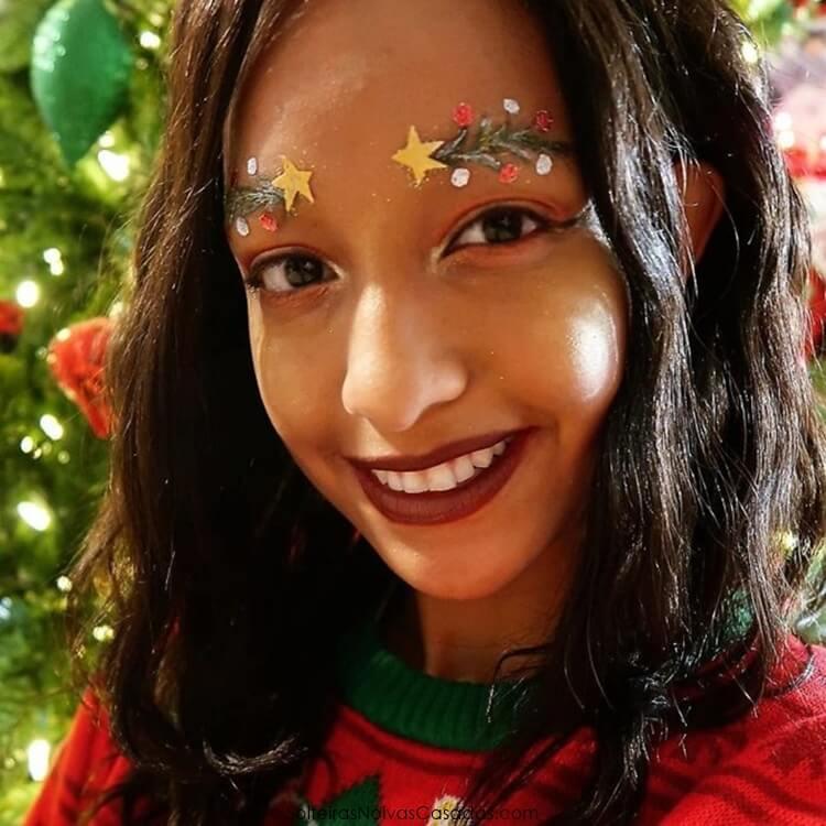 sobrancelhas natalinas