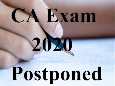 CA Exam 2020 Postponed