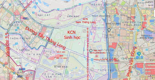 Những dự án 'đón' qui hoạch đường hướng tâm Tây Thăng Long từ Vành đai 4 đến hồ Tây
